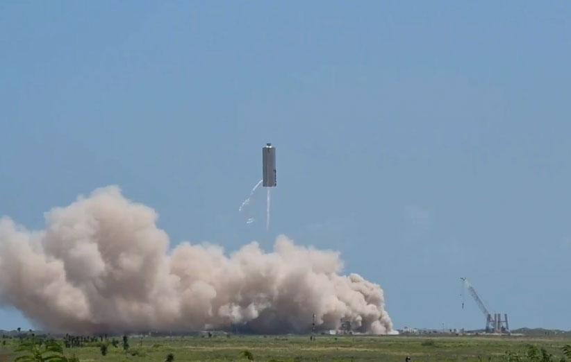 ششمین آزمایش نمونه اولیه فضاپیمای استارشیپ با موفقیت انجام شد