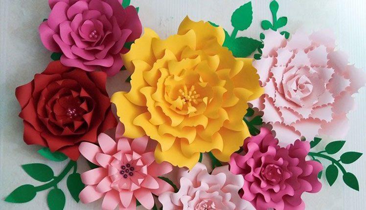 6 روش آسان برای درست کردن گل کاغذی زیبا